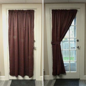 """1 French Door Blackout Curtain 54x72"""""""